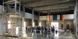 Novum: Die Richtkrone konnte ausnahmsweise im Gebäude aufgezogen werden. © 2020 Christian Hoffmann  Finanzministerium Mecklenburg-Vorpommern