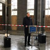 Finanzstaatssekretär Heiko Miraß bei seinem Grußwort. © 2020 Christian Hoffmann  Finanzministerium Mecklenburg-Vorpommern