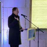 Heiko Miraß  Staatssekretär im Finanzministerium M-V  stellt das Bauprojekt und das Besondere des Projekts vor - eine Eigenplanung der Bau- und Liegenschaftsverwaltung. © 2020 Christian Hoffmann  Finanzministerium Mecklenburg-Vorpommern