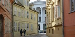 Durch diese Gasse muss man gehen - dann gelangt man zum Kollegiengebäude. © 2020 Staatliches Bau- und Liegenschaftsamt Schwerin