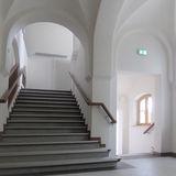 hier geht es ins Obergeschoss © 2020 milatz.schmidt architekten gmbh  Neubrandenburg