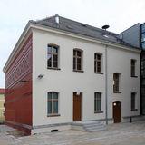 Blick auf die rückseitige Putzfassade des Haus 1 © 2020 milatz.schmidt architekten gmbh  Neubrandenburg