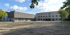 Das neue Universitätsrechenzentrum mit Rechnergebäude (links) und Seminar- und Verwaltungsgebäude (rechts) © 2020 SBL Greifswald