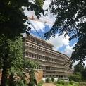 Blick auf den Rohbau des Gerichtsgebäudes © 2020 SBL Neubrandenburg
