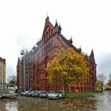 Das Ständehaus wurde am 30. Oktober 2020 eingerüstet. © 2020 Christian Hoffmann  FM M-V