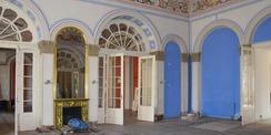 Blick in den Blauen Saal – Hier soll eine Fußbodenheizung errichtet werden. © 2020 SBL Neubrandenburg