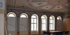 Die Kronleuchter sind demontiert. © 2020 SBL Neubrandenburg
