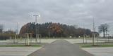Knapp 400 Fahrzeuge können hier abgestellt werden. © 2020 Polizeipräsidium Rostock