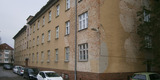 Das Gebäude Franz-Mehring-Straße 47 vor den Sanierungsmaßnahmen © 2015 Betrieb für Bau und Liegenschaften Mecklenburg-Vorpommern