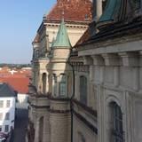 Blick auf die Fassade von oben © 2021 SBL Schwerin
