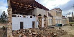 Blick auf die Gartenseite mit dem abgebrochenen Küchenanbau – hier soll wieder die Laube entstehen. © 2021 SBL Neubrandenburg