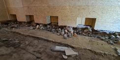 Abbrucharbeiten im Fußbodenbereich © 2021 SBL Neubrandenburg