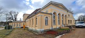 Die Orangerie wird Grund instandgesetzt. © 2021 SBL Neubrandenburg