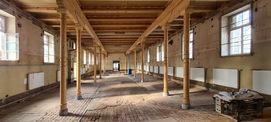 Blick in die ehemalige Stallung im Seitenflügel Ost © 2021 SBL Neubrandenburg