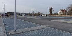 Blick von Norden Richtung Wache und Stellplatzzufahrt © 2021 SBL Greifswald