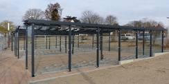 68 überdachte Einstellplätze für Fahrräder der Mitarbeiter stehen jetzt neu zur Verfügung © 2021 SBL Greifswald
