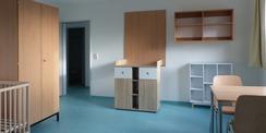 Mutter-Kind-Zimmer im 2. Obergeschoss © 2021 SBL Greifswald