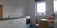 Blick in die Küche einer Wohneinheit im 2. Obergeschoss © 2021 SBL Greifswald