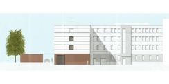 Ansicht Süd - Hofseite © 2017 gmw planungsgesellschaft mbH  Stralsund