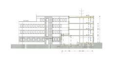 Schnitt Nordflügel mit Ansicht Ost Hofseite © 2017 gmw planungsgesellschaft mbH  Stralsund
