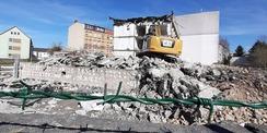 Von November 2019 bis Juni 2020 erfolgte der Abbruch des alten Gebäudebestandes © 2020 SBL Greifswald