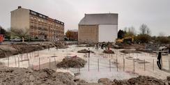 November 2020 - Fertigstellung der Bodenplatte © 2020 SBL Greifswald