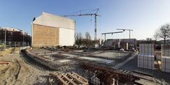 Februar 2021 - Rohbauarbeiten © 2021 SBL Greifswald