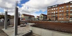 März 2021 - Rohbauarbeiten © 2021 SBL Greifswald