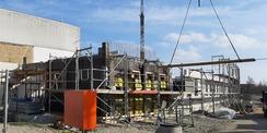 März 2021 - Rohbauarbeiten - das Erdgeschoss ist fast fertig © 2021 SBL Greifswald