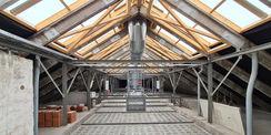 Dachstuhl mit punktueller Verstärkung und Entrauchungsanlage © 2021 SBL Neubrandenburg