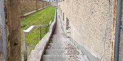Der zwischenzeitlich entfernte sogenannte  Postengang  wurde wiederhergestellt. © 2021 SBL Neubrandenburg
