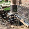 die fertige Fundamentunterfangung © 2021 SBL Neubrandenburg