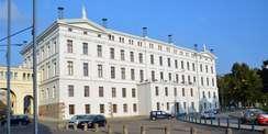 Rückseite der Staatskanzlei © 2021 SBL Schwerin