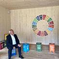 Landwirtschaftsminister Dr. Backhaus im neuen Bildungspavillon © 2021 SBL Schwerin
