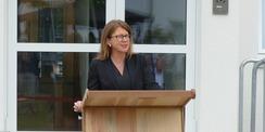 Katy Hoffmeister  Justizministerin Mecklenburg-Vorpommerns  bei Ihrem Grußwort © 2021 SBL Greifswald