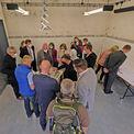 Besichtigung der Pläne und des Modells im Dokumentationszentrum © 2021 SBL Schwerin