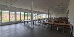 der Speisesaal im Erdgeschoss © 2021 SBL Neubrandenburg