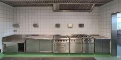 die Küche im Obergeschoss © 2021 SBL Neubrandenburg