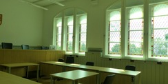 Blick in den hergerichteten  historischen Sitzungssaal im Haupthaus © 2021 SBL Greifswald