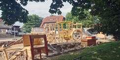 Die Arbeiten am Spielplatz schreiten voran. © 2021 SBL Schwerin