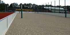 das Beachvolleyballfeld © 2021 SBL Neubrandenburg