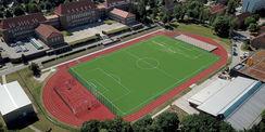 Luftbildaufnahme der Sportplatzanlage © 2021 S. Knoche Weitzel Sportstättenbau