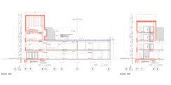 Gebäudequerschnitt durch den Erweiterungsbau © 2021  HerbstKunkler Architekten  Berlin