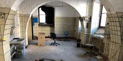 Blick in ein ehemaliges Labor im Erdgeschoss © 2021 Staatliches Bau- und Liegenschaftsamt Neubrandenburg