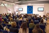 Rund 60 Personen kamen am 13. November 2017 zur Podiumsdiskussion ins Haus der Europäischen Union.